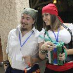 Piratas músicos tramando fechorías