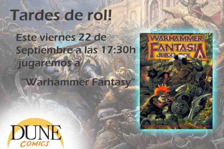 Warhammer Fantasy en Granada, partida de rol de mesa