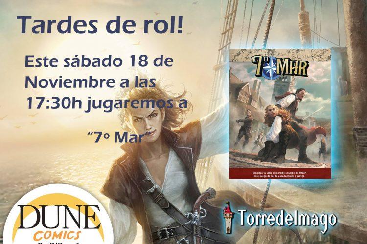 Partida de rol a 7º Mar en Granada