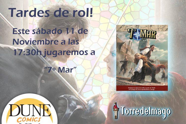 Partida de rol de 7º Mar en Granada